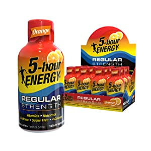 5-hour ENERGY® Shot, Regular Strength, Orange, 1.93 oz, 12 Count