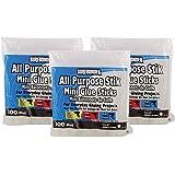 """Surebonder DT-100 Made in the USA All Purpose Stik-Mini Glue Sticks-All Temperature-5/16""""D, 4""""L Hot Melt Glue Sticks-100 Sticks per bag (3 pack)"""