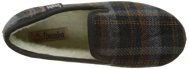 45 EU Victoria Confortable Cuadros H//Torcido Zapatillas de Estar por casa para Hombre Gris