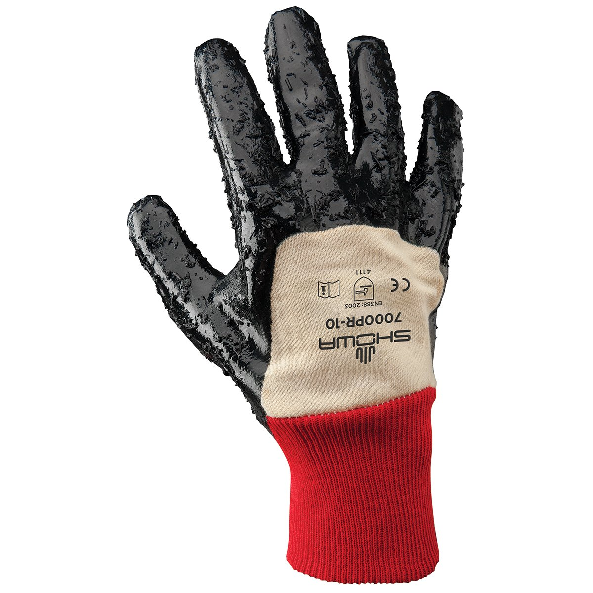 Seamless Knitted Liner Chemical Resistant Medium 12 Length Pack of 12 Pairs SHOWA Atlas 720 Fully Coated Nitrile Glove