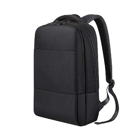 1245f5373 REYLEO Men Laptop Backpack Rucksack Water-Resistant Nylon Casual Daypack  School Bag Backpack - 18L / Black RB07: Amazon.co.uk: Luggage