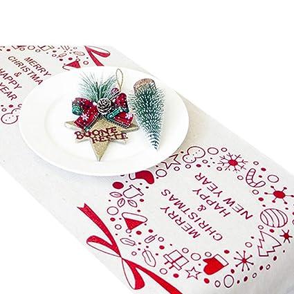 Merry Christmas Vine.Amazon Com Mydufish Classic Christmas Table Runner
