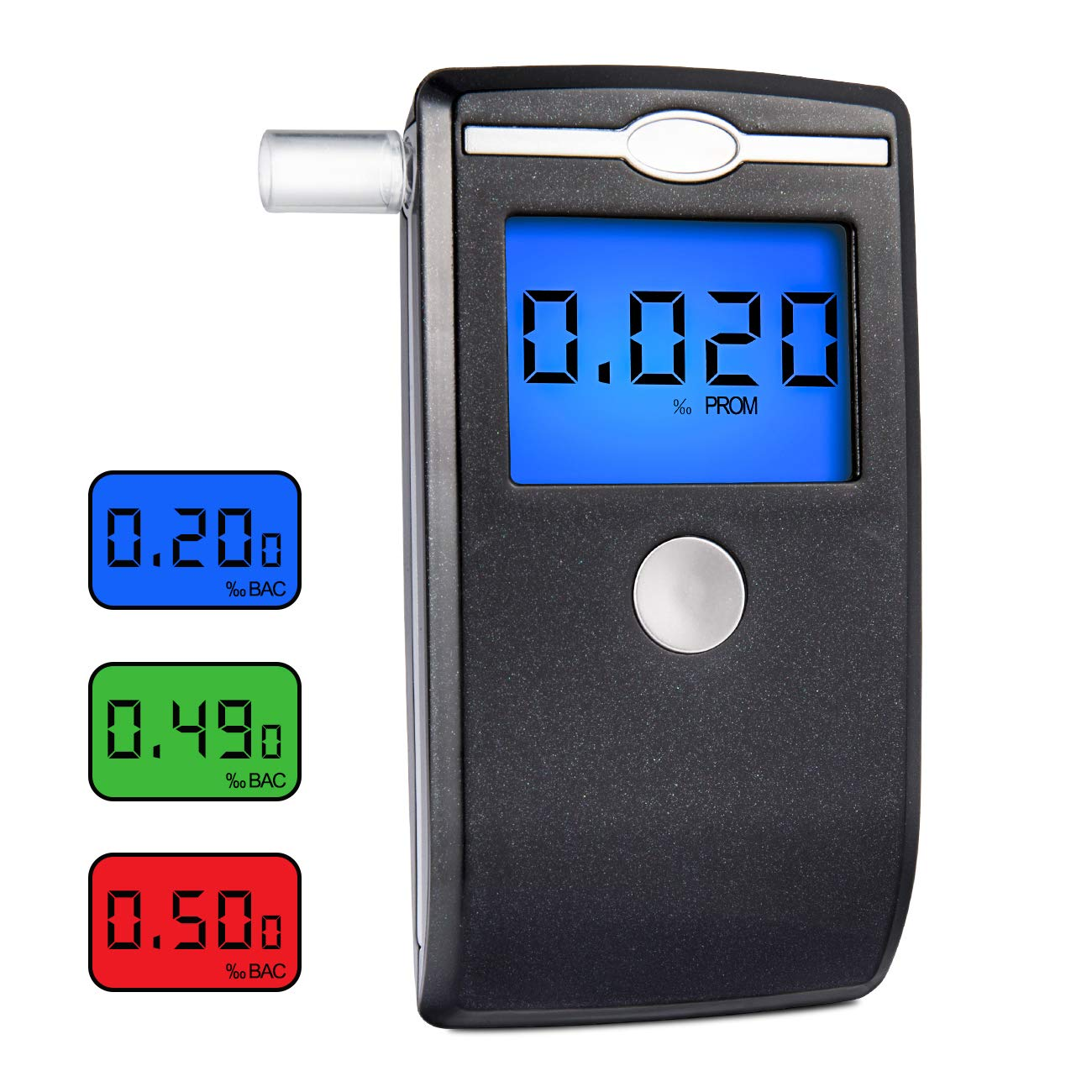 Breathalyzer, [New Version] Portable Alcohol Tester with 5 Mouthpieces