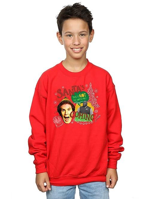 Elf Bambini e ragazzi North Pole Felpa 7-8 Years Rosso  Amazon.it   Abbigliamento 179988562d20