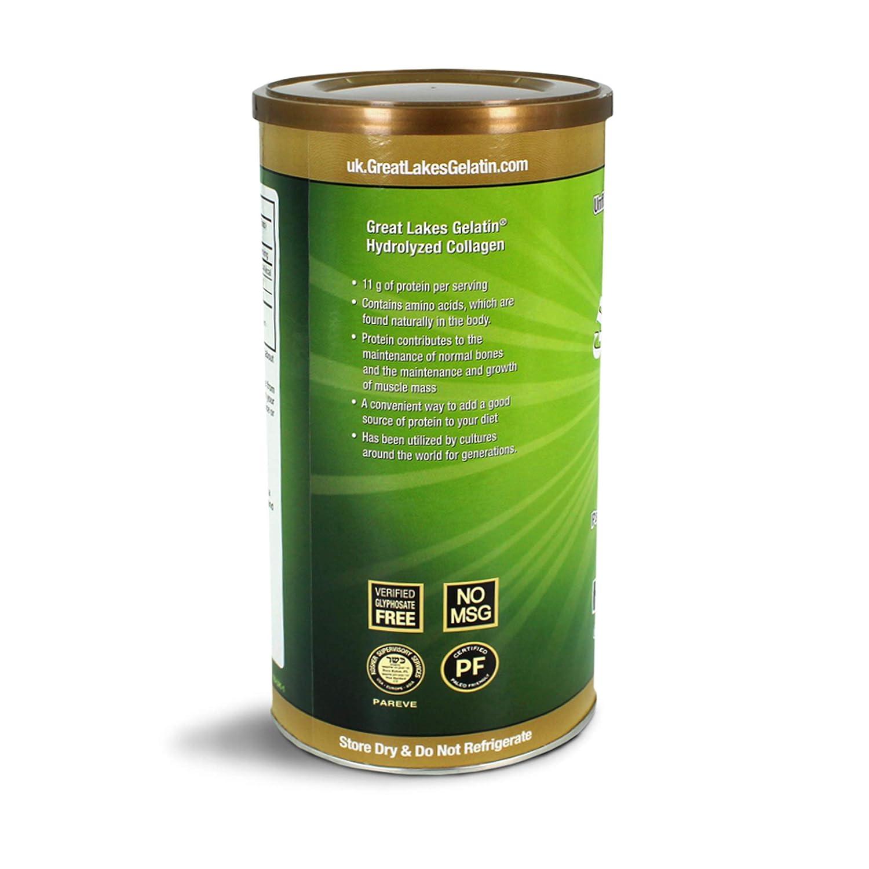 Hidrolizado de colágeno de gelatina de Great Lakes 454g (lata compatible con UK/EU): Amazon.es: Salud y cuidado personal