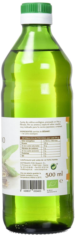 Biospirit Aceite de Sésamo Bio - 500 ml: Amazon.es: Alimentación y bebidas