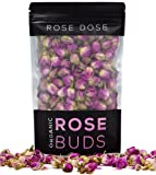 Rose Dose, USDA Organic Rose Bud Tea (2 oz) Culinary Grade (Infusions, Baking, Teas, Crafts)