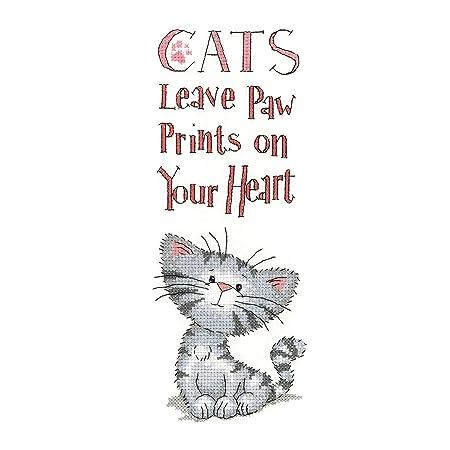 Kit de cuadro de punto de cruz, diseño de huellas de gato en ...