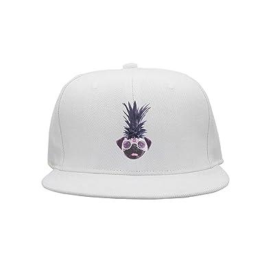 Gorras de béisbol Divertidas Sombreros Pug Divertido de piña ...