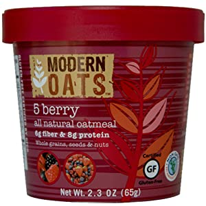 Modern Oats 5 Berry Oatmeal, 2.3 Ounce (Pack of 6)