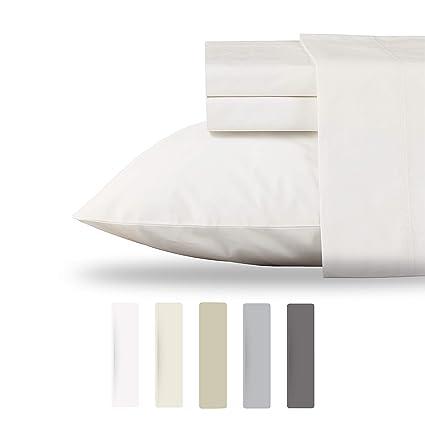 Amazon Com Luxury Collection 100 Organic Cotton Percale Sheet Set