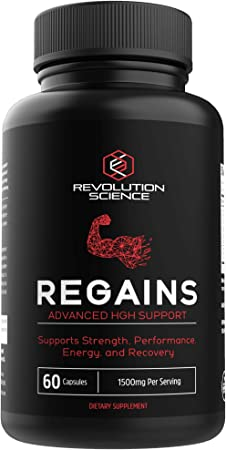 HGH Supplements for Men - Regains Naturally Stimulate Human Growth Hormone for Men - HGH for Men, Muscle Building, Muscle Growth Supplements for Men & Women, Amino Acid & Bovine Colostrum, 60 Capsules