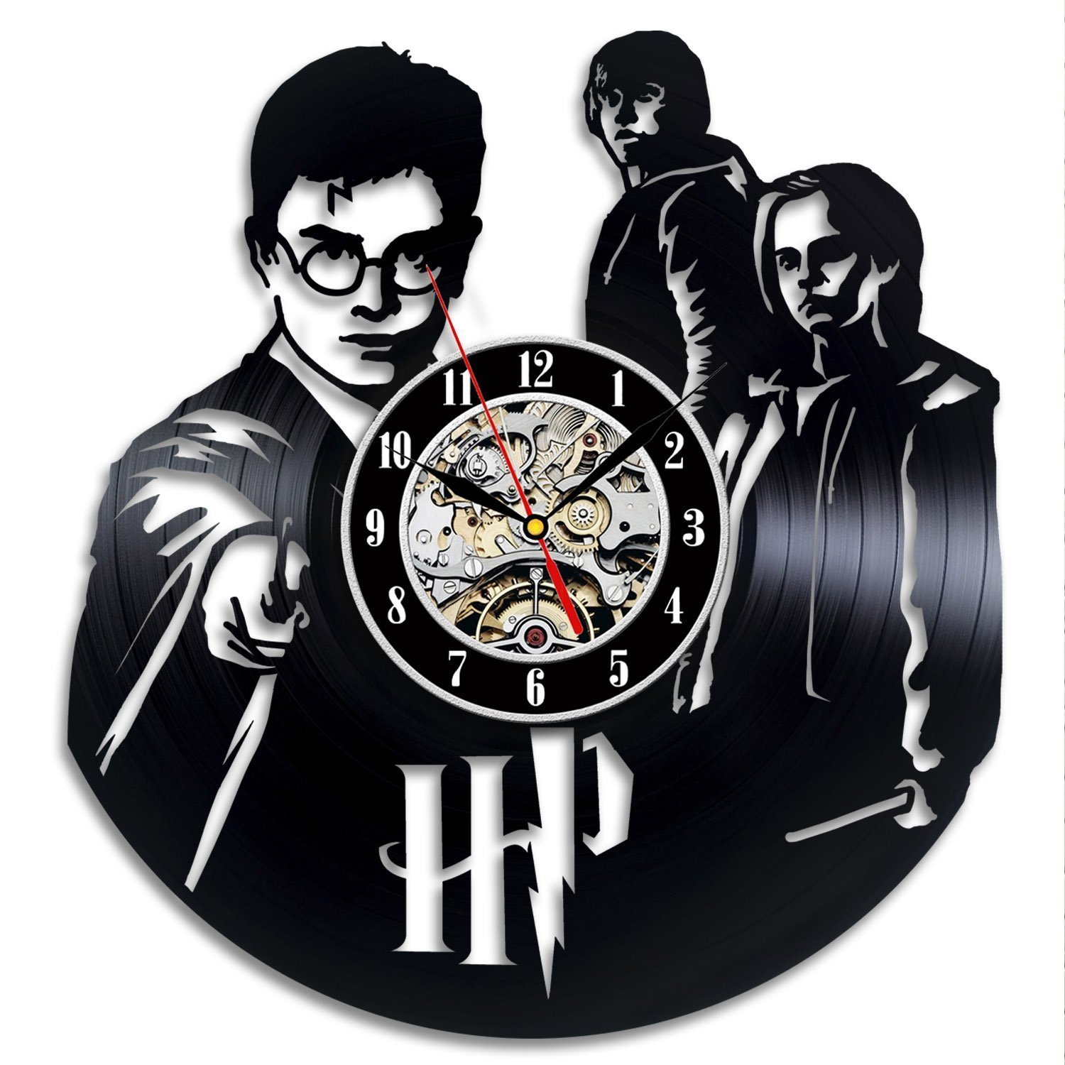 Harry Potter Vinyl Record Wall Clock - Decorate your home with Modern Art - Gift for men and women, girls and boys - Win a prize for a feedback VinylEvolution VE211