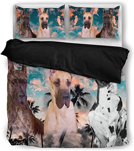 Amazon Com Luto Home Great Dane Bedding Set Home Kitchen