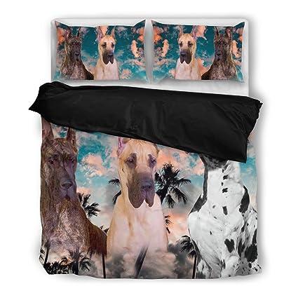 Gran danés juego de ropa de cama, diseño de perro los amantes regalos – personalizado
