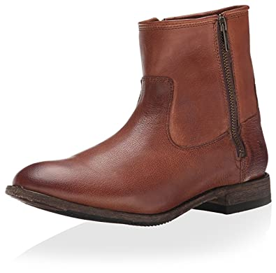 FRYE Women's Ethan Double Zip Ankle Boot, Whiskey, ...
