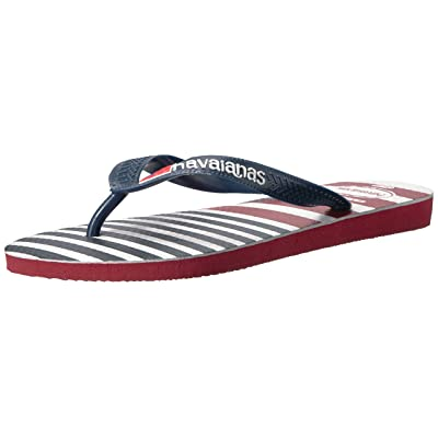 Amazon.com | Havaianas Men's USA Stripe Logo Sandal | Sandals