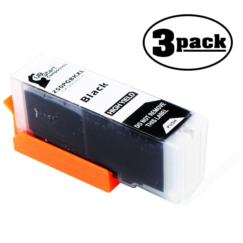 3 - Pack交換Canon Pixma mx720シリーズプリンタブラックインクカートリッジ – 互換性Canon pgi-250pgbk XLブラックインクタンク(Canon 250 / pgi-250 XL) B073ZM3G7F