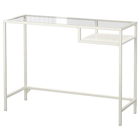 IKEA Vittsjo - mesa portátil blanco / vidrio