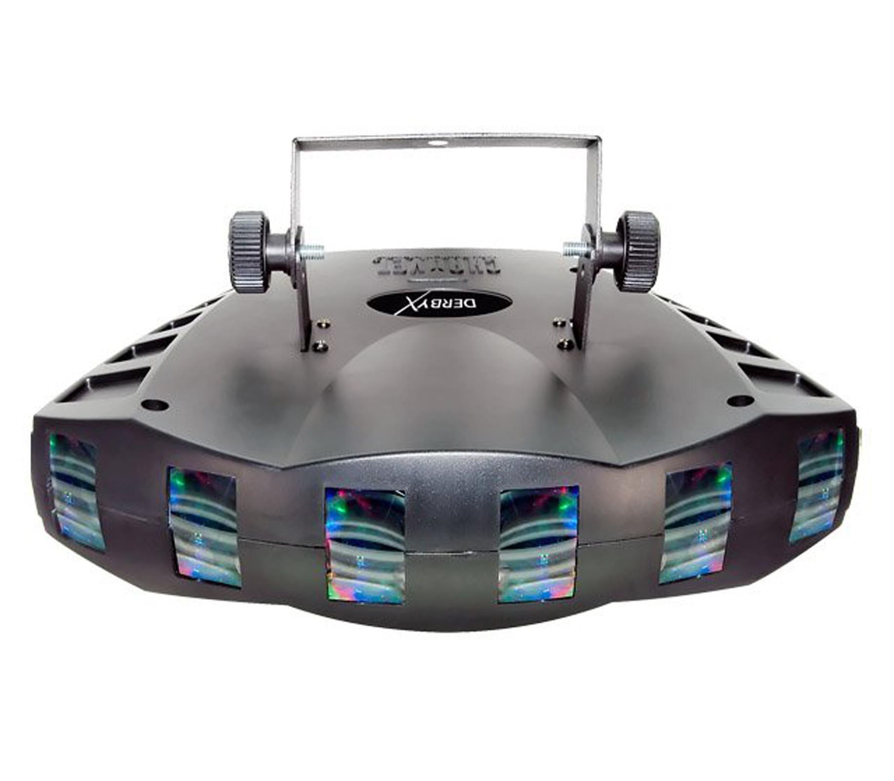 CHAUVET DERBY X RGB DMX Pro DJ Club Effect Strobe Light + BOB-LED Flame Light