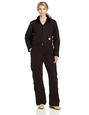 493c75d14df Amazon.com  Carhartt Women s Sandstone Kodiak Coverall Arctic Quilt Lined   Overalls And Coveralls Workwear Apparel  Clothing