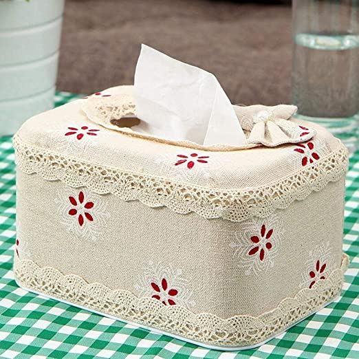 WOYQS Caja para Pañuelos de Papel Caja De Pañuelos De Papel Cuadrada, Cubierta De La Caja