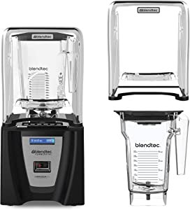 Blendtec Connoisseur 825 Professional Blender, FourSide and WildSide+ Jar BUNDLE, Blendtec Q Series Sound Enclosure, Industries Strongest Professional-Grade Power, 30 Pre-programmed Cycles