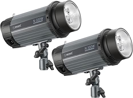 Neewer 600W(2-Pack 300W) 5600K Flash Estroboscópica Luz Monolight con Lámpara de Modelado, Aleación de Aluminio para Interiores Estudio Ubicación Fotografía, Fotografía de Retratos (N-300W): Amazon.es: Electrónica