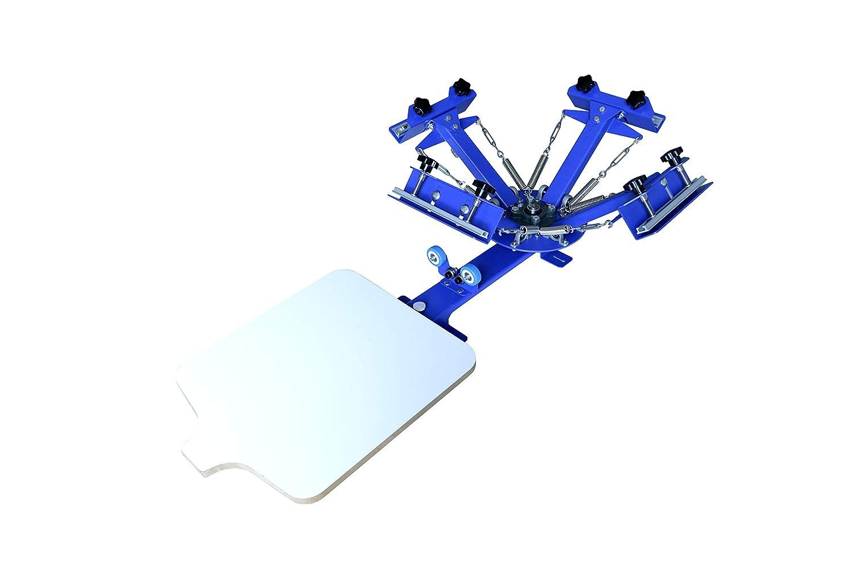 Techtongda Screen Printing Machine Press 4 Color 1 Station Silk Screen Printing Machine