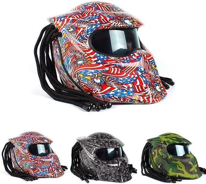 BQT Casco depredador de Motocicleta, Casco Integral antivaho ...