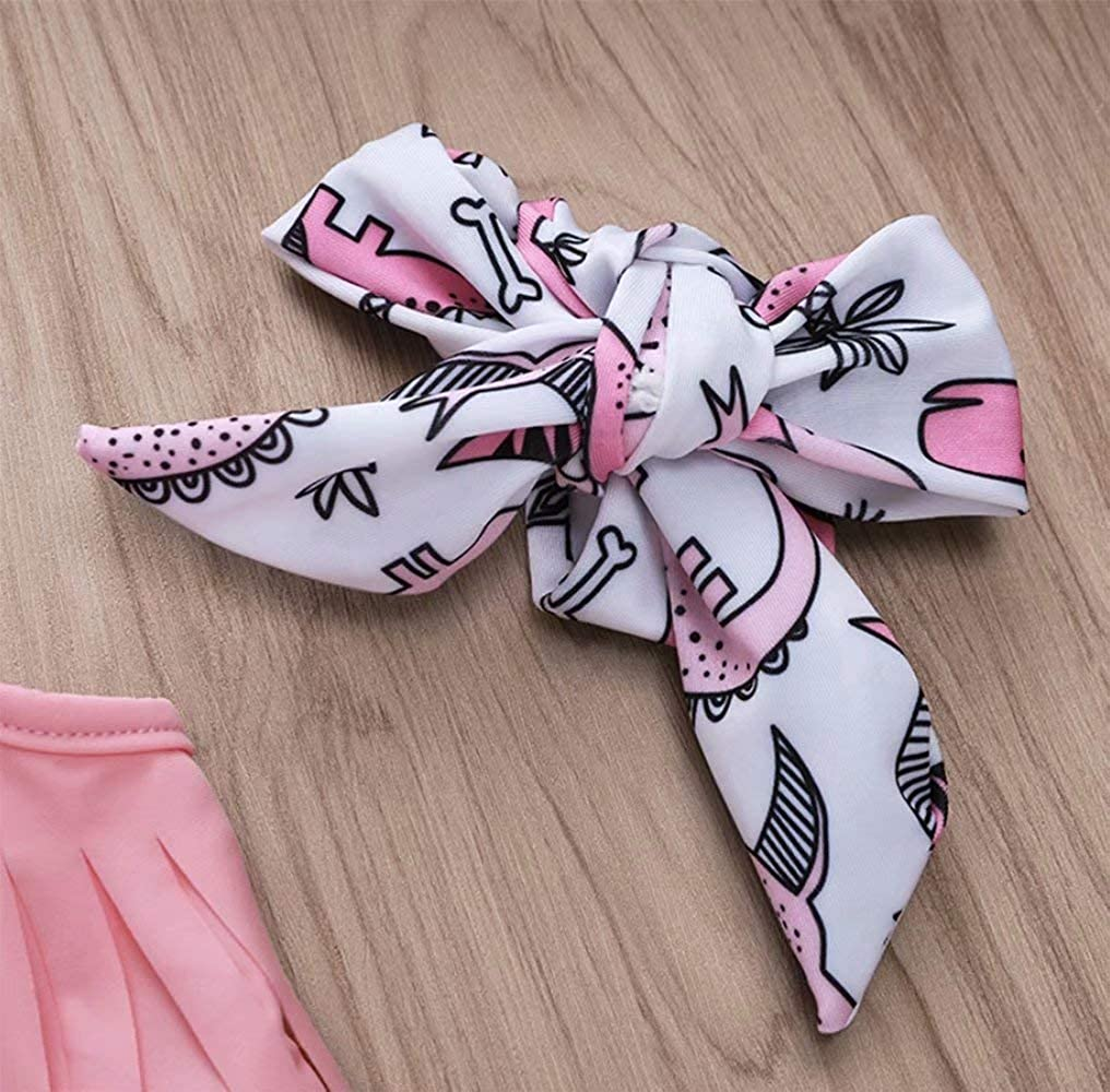 LOTUCY Baby Girl Tassel Halter Tops Watermelon Shorts 2Pcs Summer Swimsuit Bikini Beachwear