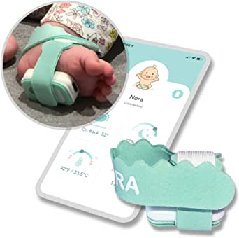 NORA Smart Sock (New 2022 Model). Birth to 3 Years. Heart Rate, Sleep Position, Temperature & Sleeping Tracking. iOS and Android.