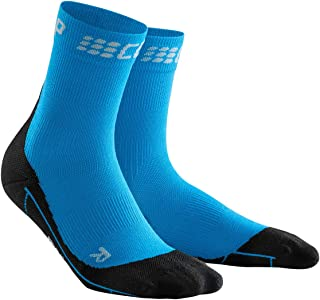 Cep Women Winter Run Short Socks Vêtements De Course Running Socks Yellow - Black WP4BU