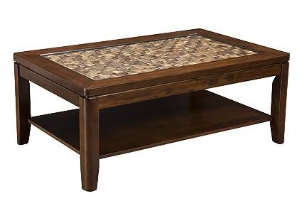 Amazon Com Alpine Furniture 1437 21 Granada Coffee Table With Glass