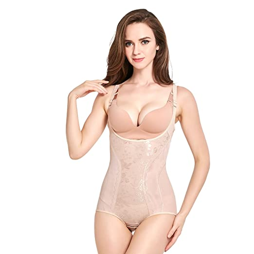 cae8c811939e2 AICONL Women s Body Shapewear Firm Control Wear Your Own Bra Body Brieder Body  Shaper Beige