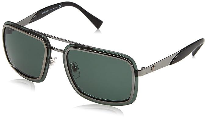 Versace 0Ve2183 Gafas de sol, Gunmetal, 63 para Hombre ...