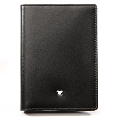 becd3874f1 Image Unavailable. Image not available for. Color: Montblanc Meisterstuck  Unisex Large Black Leather Card Holder ...