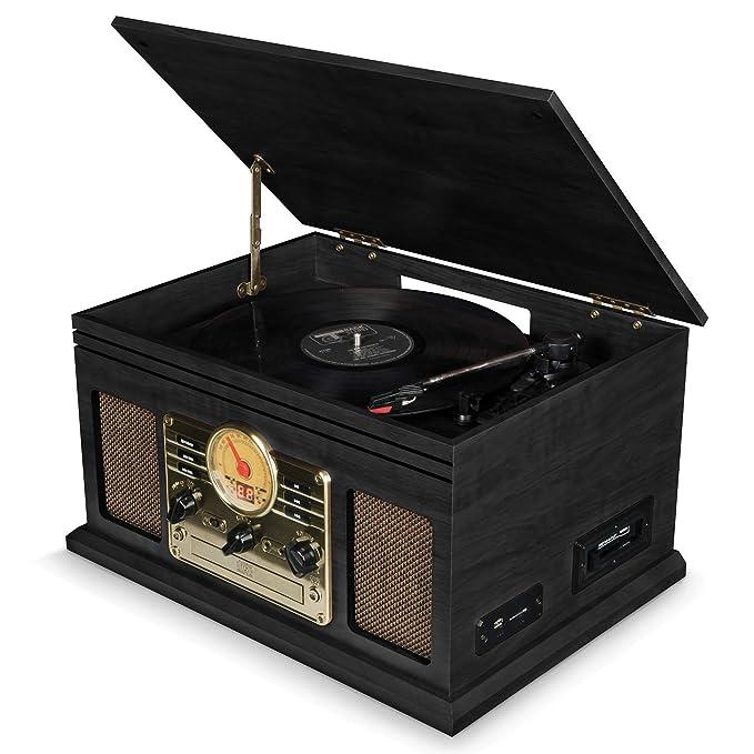Tocadiscos de Vinilo Vintage con Altavoces Integrados: Amazon.es ...