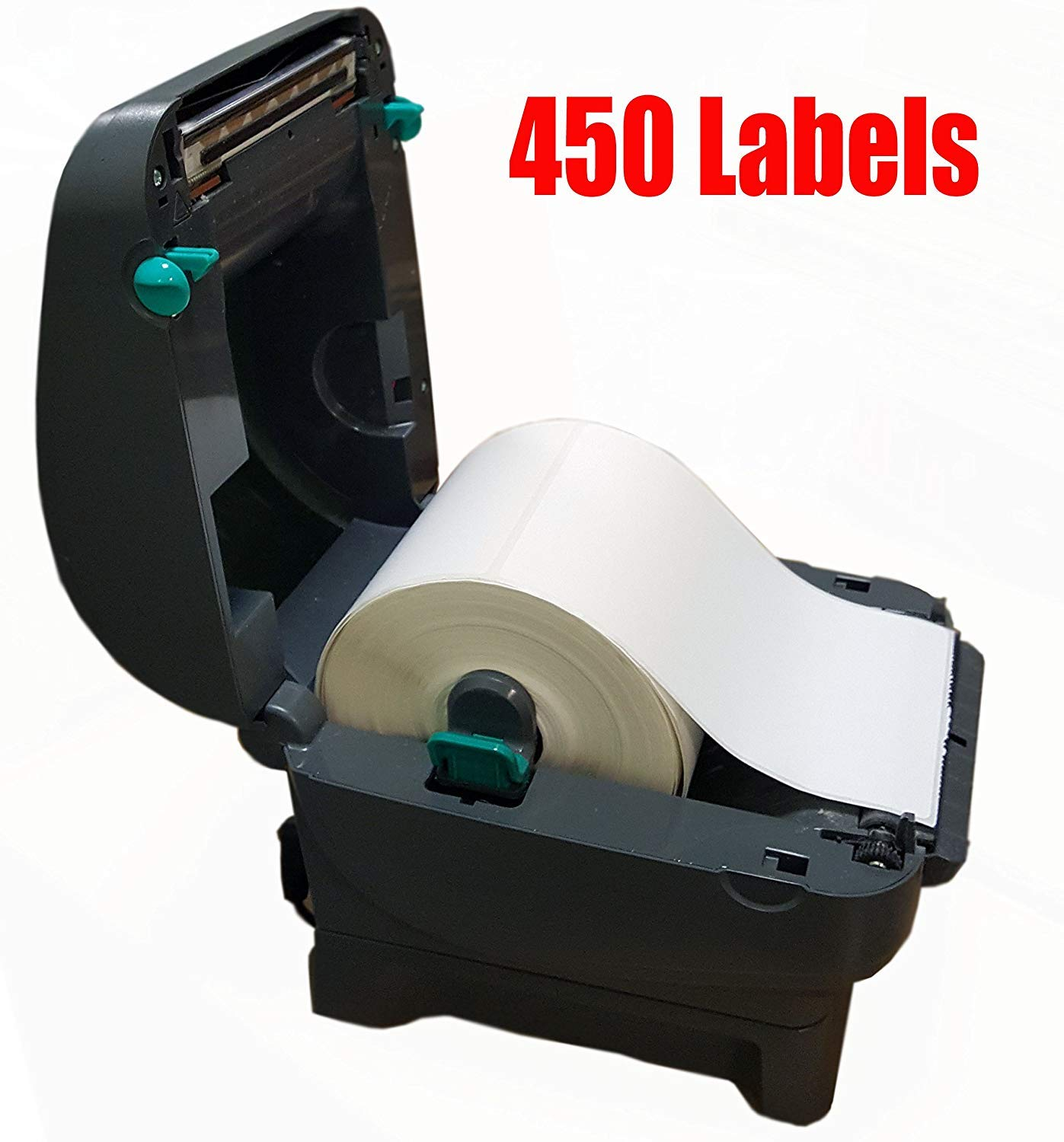 iMBAPrice - 1 Roll of 450 (USA) 4x6 Direct Thermal Labels for Zebra 2844 ZP-450 ZP-500 ZP-505 (1 inch core) by iMBAPrice