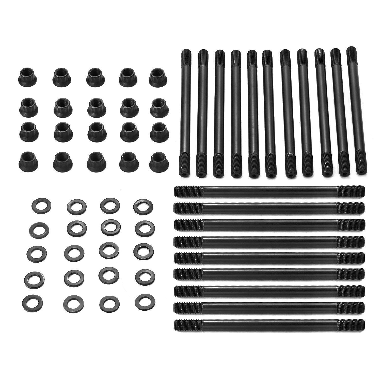 Qauick Cylinder Head Stud Set for 2003-2007 Ford F250 F350 Super Duty 2003-2005 Ford Excursion Powerstroke 6.0L Turbo 250-4202