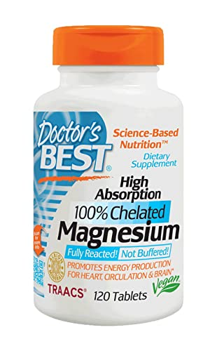 Doctor's Best High Absorption 100% Chelated Magnesium (120 Tablets)