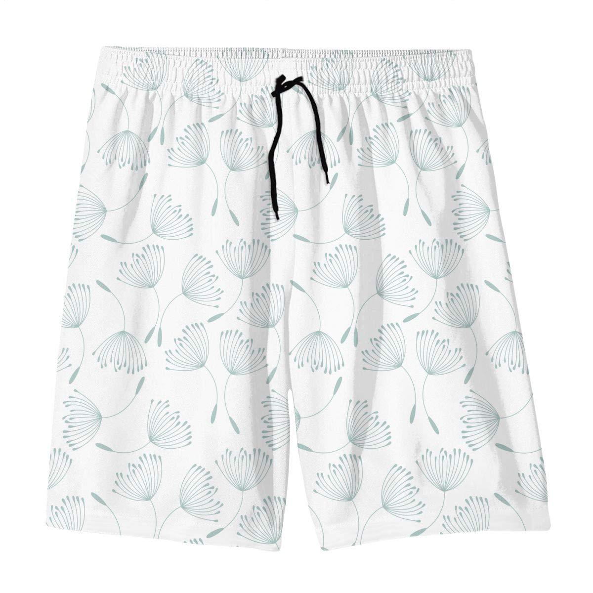 Teen 3D Printed Beach Shorts Polyester Cute Pastel Pattern Beachwear with Pockets