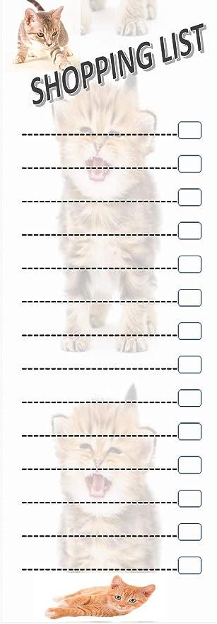 RPP - Bloc de Notas magnético para Amantes de los Gatos, con 60 ...