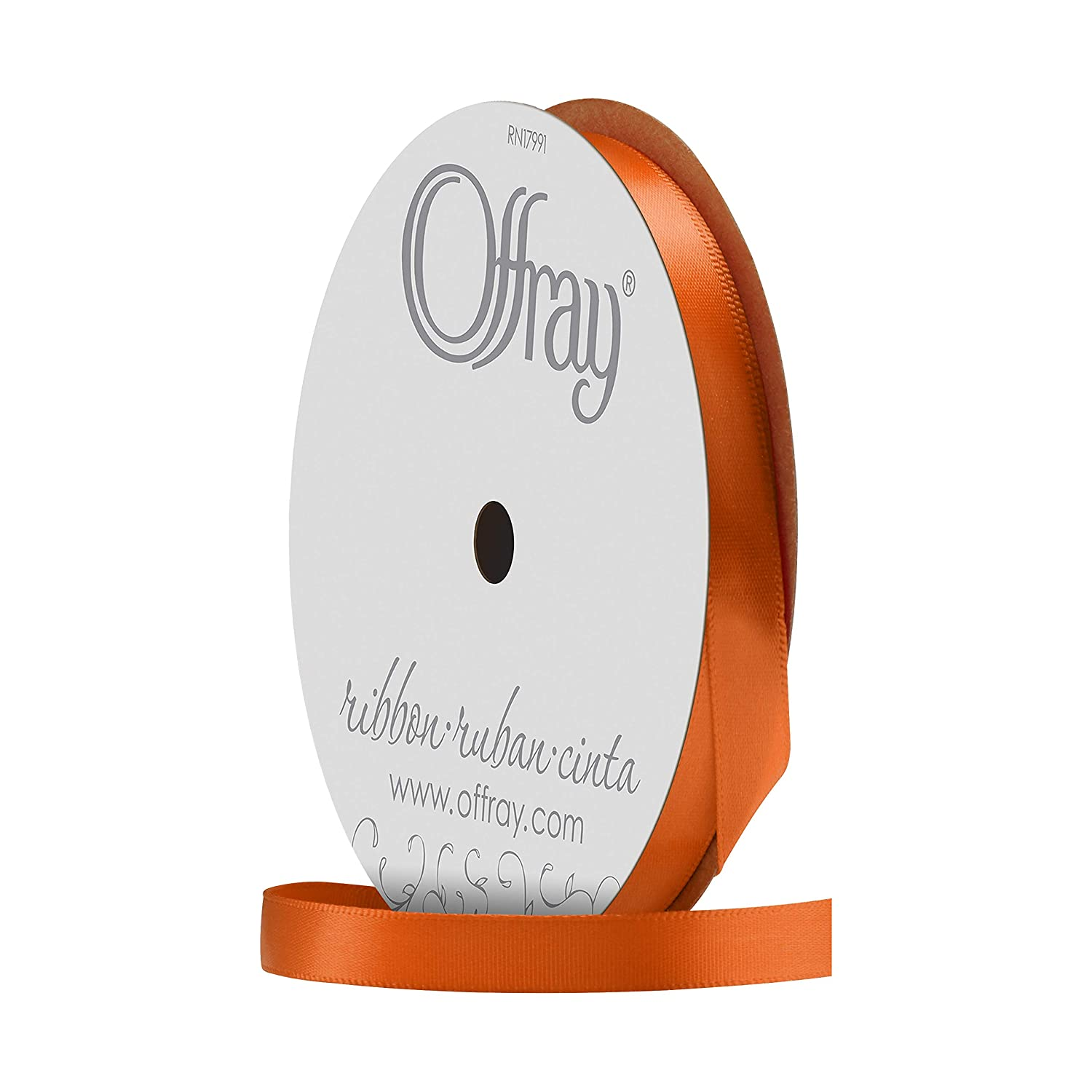 Offray Single Face Satin 5//8-Inch Wide 18-Feet Navy