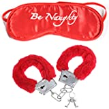 Party Propz Premium Red Handcuff with Eyemask for Couples