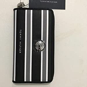 Tommy Hilfiger Grey-White-Black Faux Leather For Women - zip around wallets