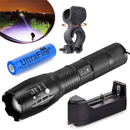 Skywolfeye Super Bright 6000LM X-XML T6 LED Flashlight Torch 5 Mode Light SOS BE