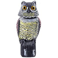Ohuhu Horned Owl Decoy, Natural Enemy Pest Deterrent Scarecrow, Pest Control Repellents