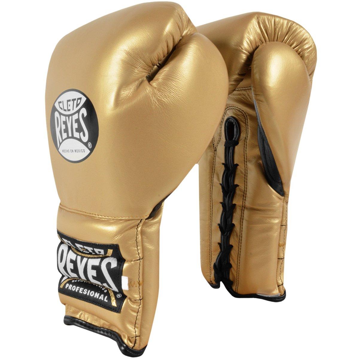 Cleto Reyes 伝統的な編み上げトレーニングボクシンググローブ 14オンス - 純金。
