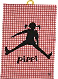Teatowel Pippi Jump